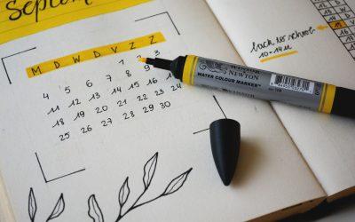 Termíny kurzov a prázdnin v školskom roku 2019/2020